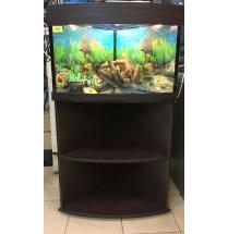 Угловой аквариум с тумбой 60 литров