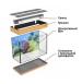 Панорамный аквариум с тумбой 600 литров