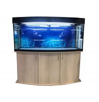 Панорамный аквариум с тумбой 400 литров