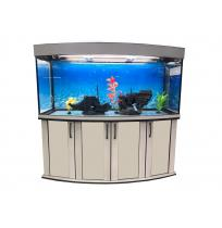 Панорамный аквариум с тумбой 500 литров