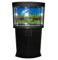 Панорамный аквариум с тумбой 100 литров