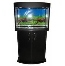 Панорамный аквариум с тумбой на 100 литров