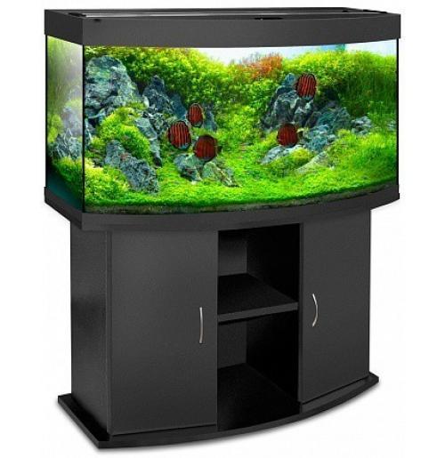 Панорамный аквариум с тумбой 300 литров