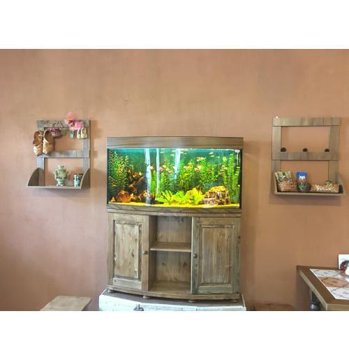 панорамный аквариум 270 литров с тумбой