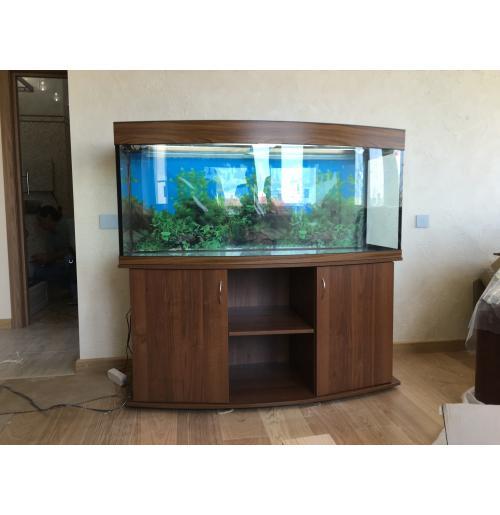 Панорамный аквариум 500л Аквас