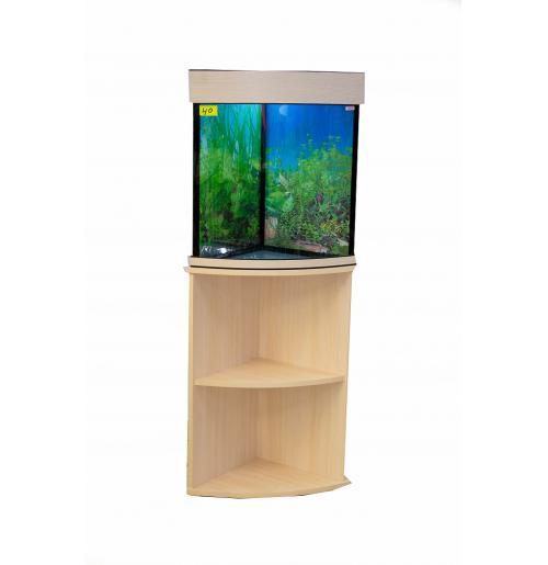 Угловой аквариум с тумбой 40 литров